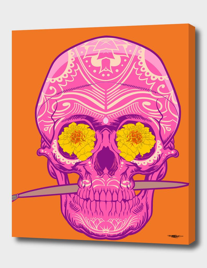 Sugar skull Orange