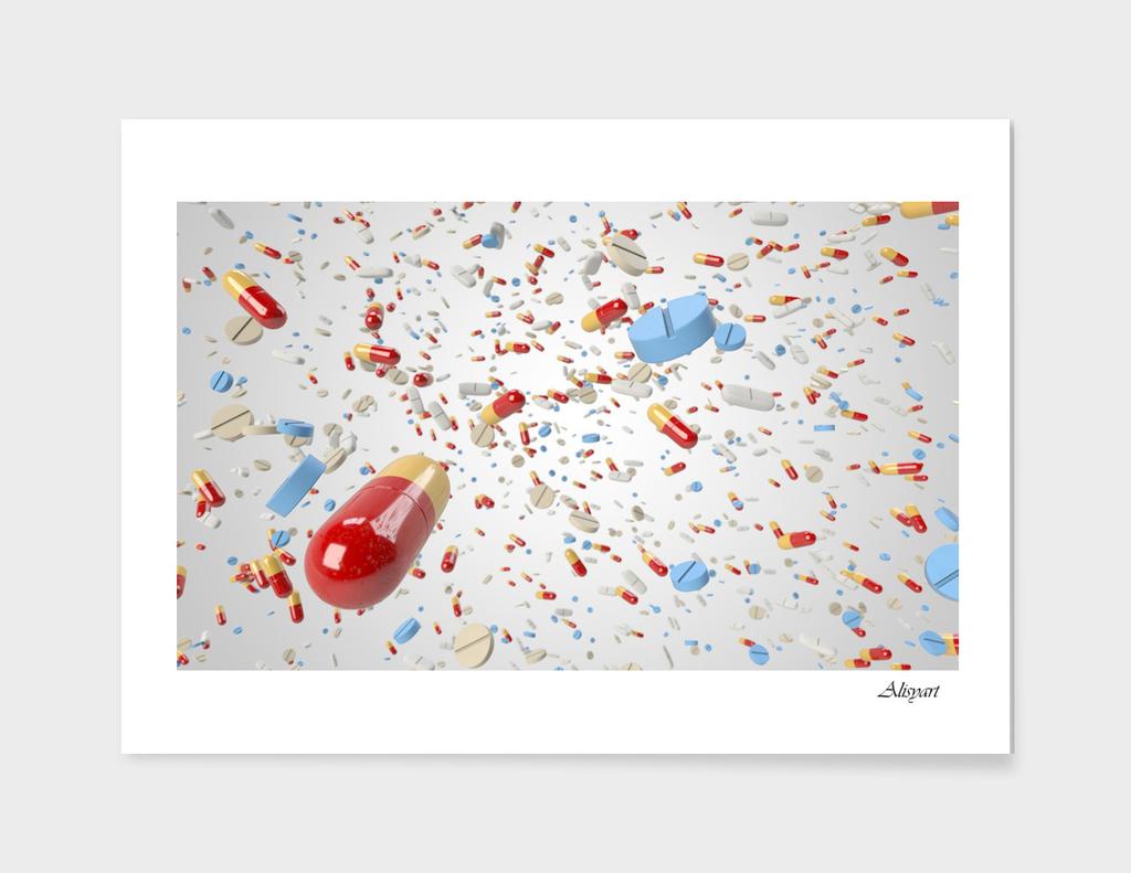 pill capsule flying