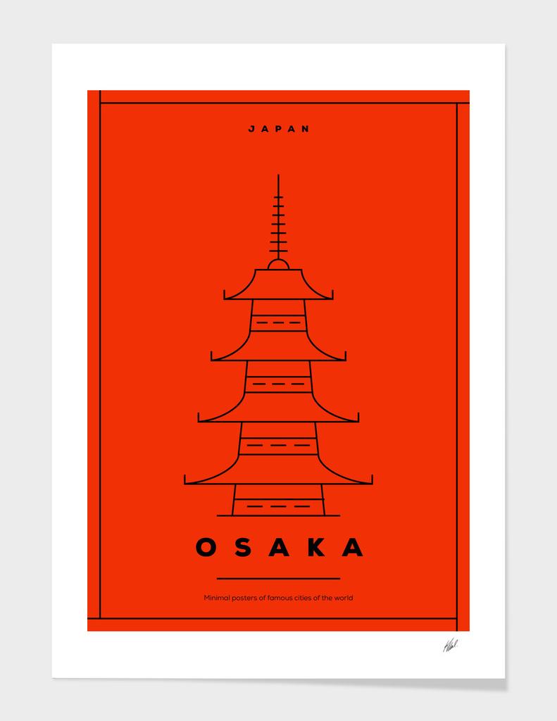 Minimal Osaka City Poster