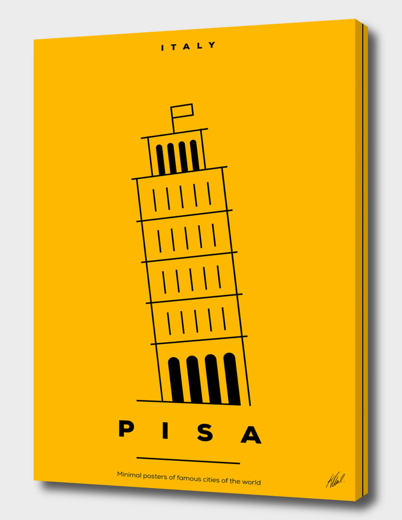 Minimal Pisa Tower Poster