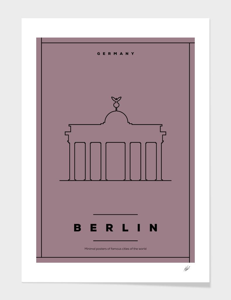 Minimal Berlin City Posters