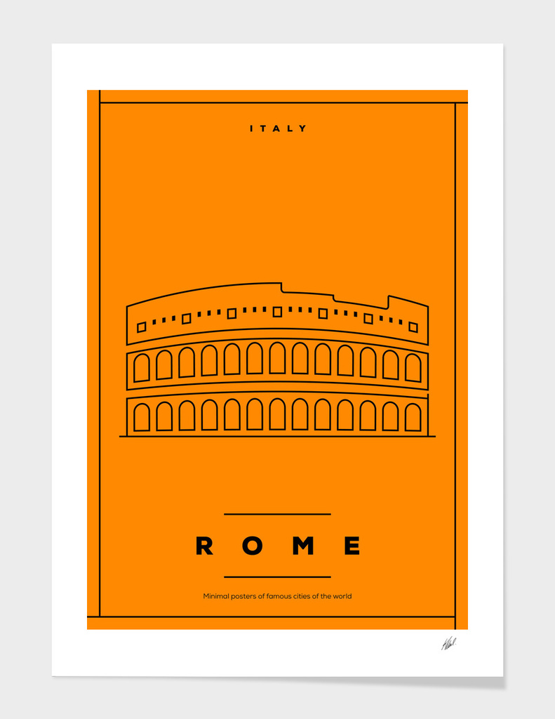 Minimal Rome City Poster