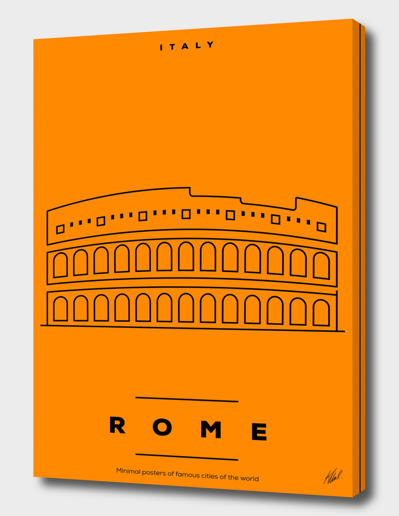 Minimal Rome City Poster