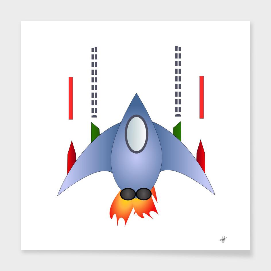 spaceship rocket space game cosmos