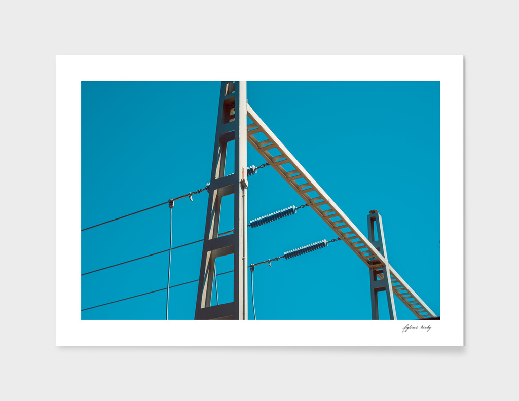 High Tension Electricity Wires . High voltage lines.