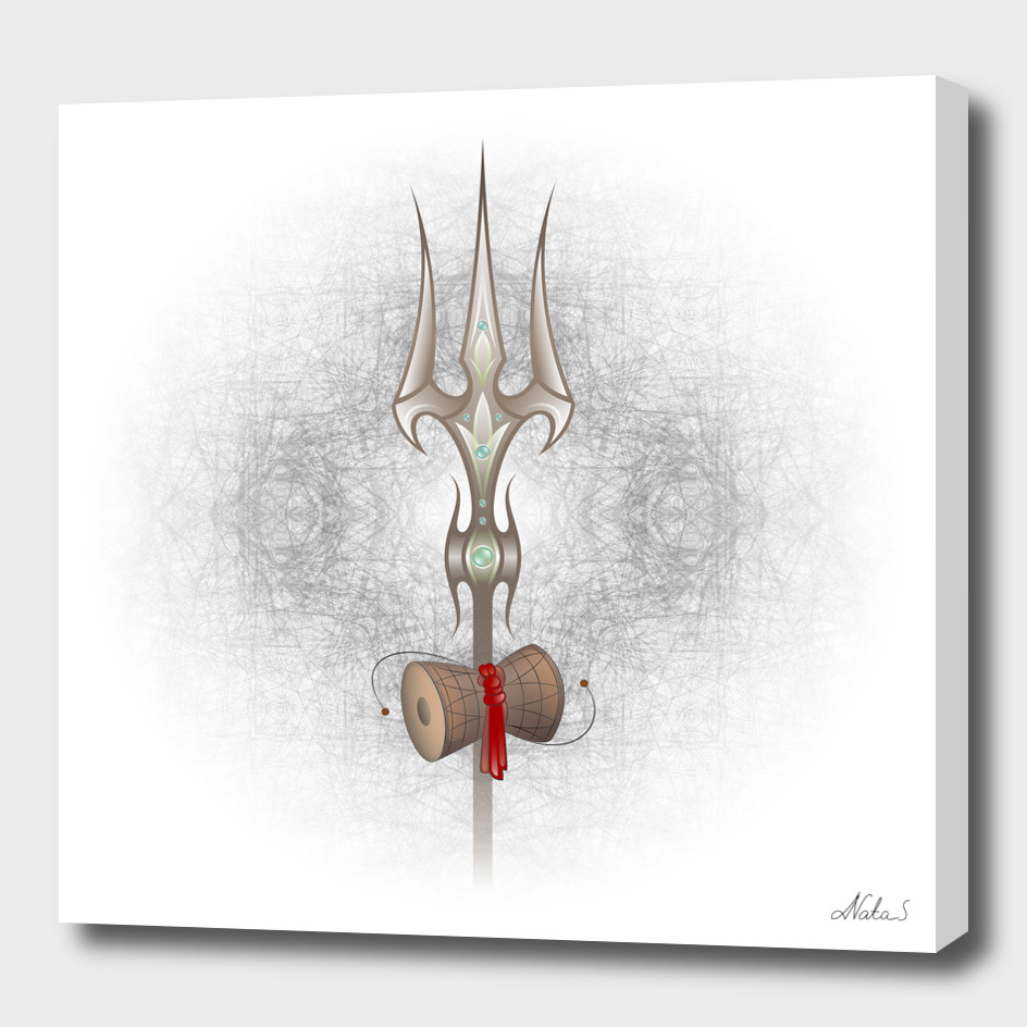 Sacred symbol of  Yoga. Trishul of Lord Shiva