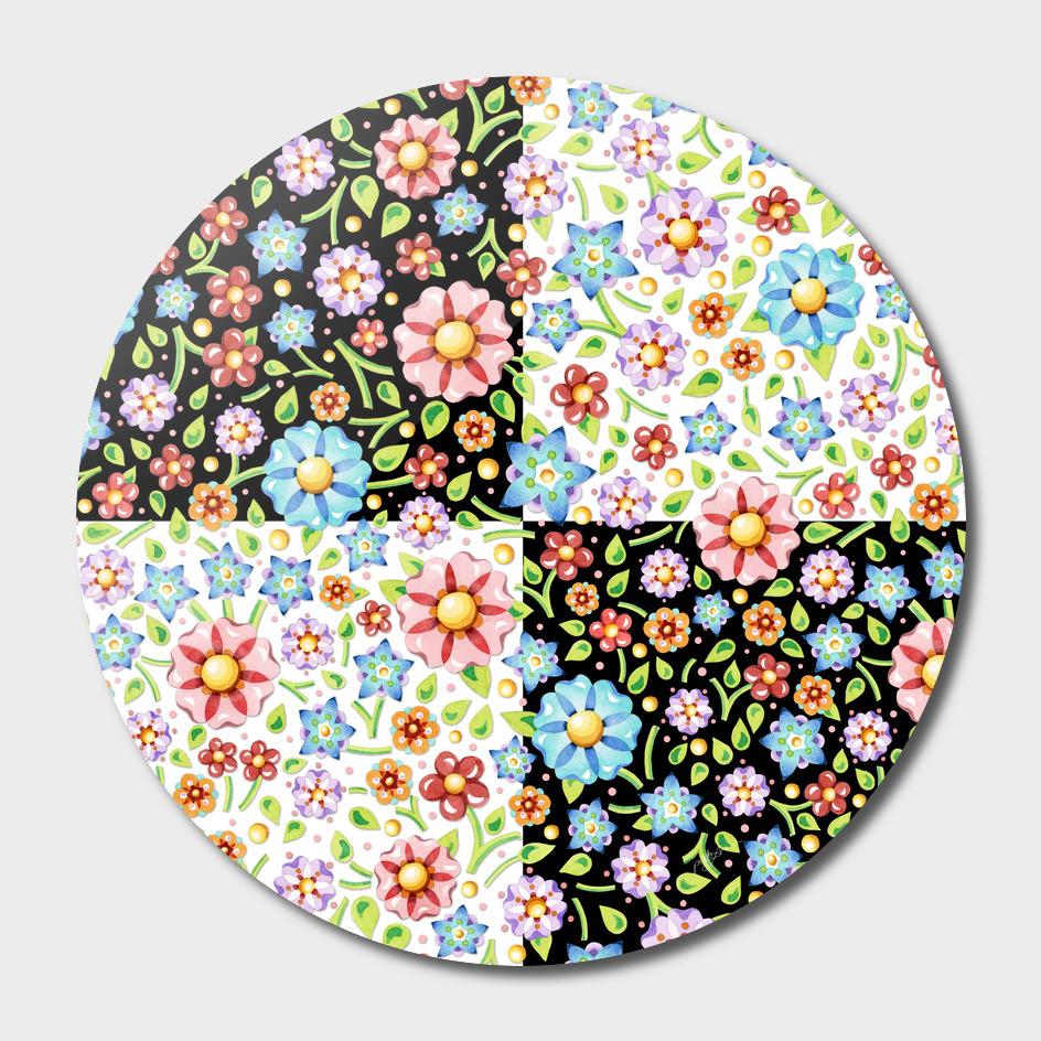 Millefiori Floral Checks