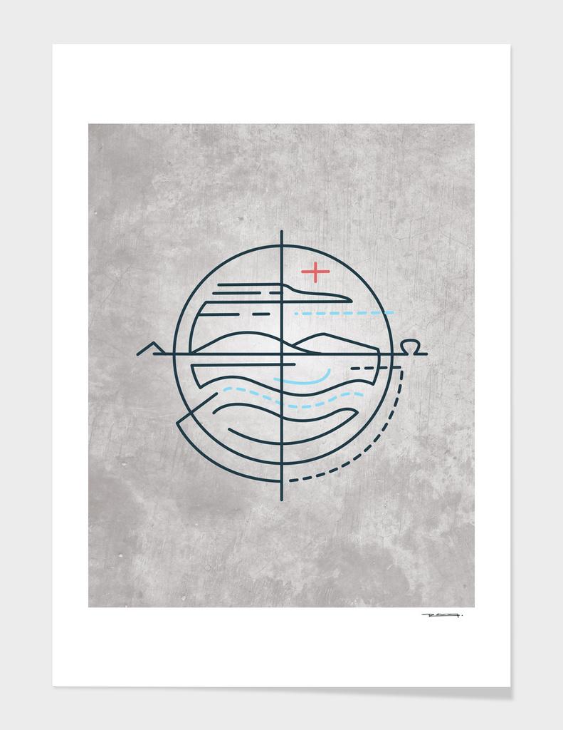 Religious symbols illustration
