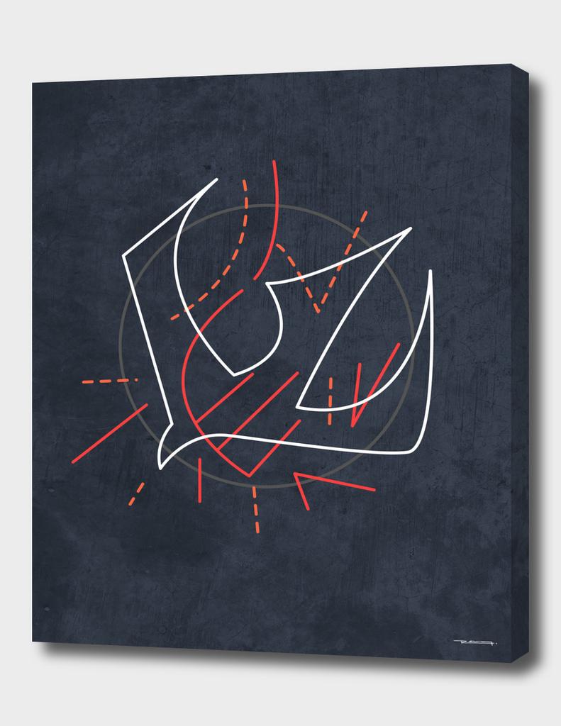 Digital minimalist illustration of the Holy Spirit