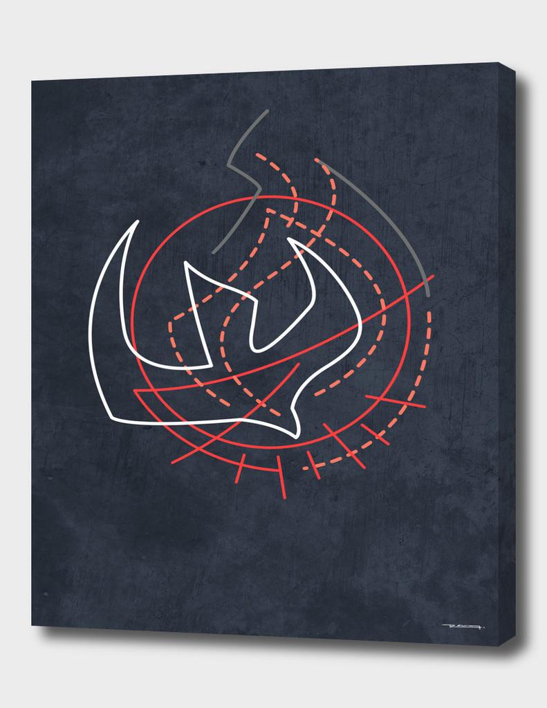Holy Spirit minimalist illustration
