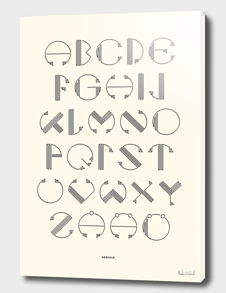 Hercule Typography - White