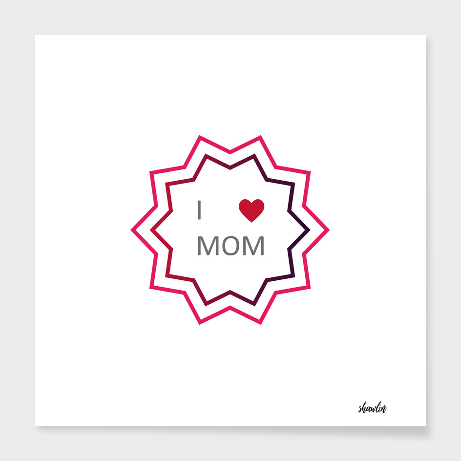 Mothers Day Lettering Emblems and Badge