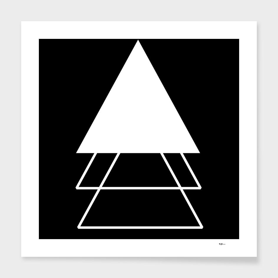 Abstrait Triangles Noir/Blanc
