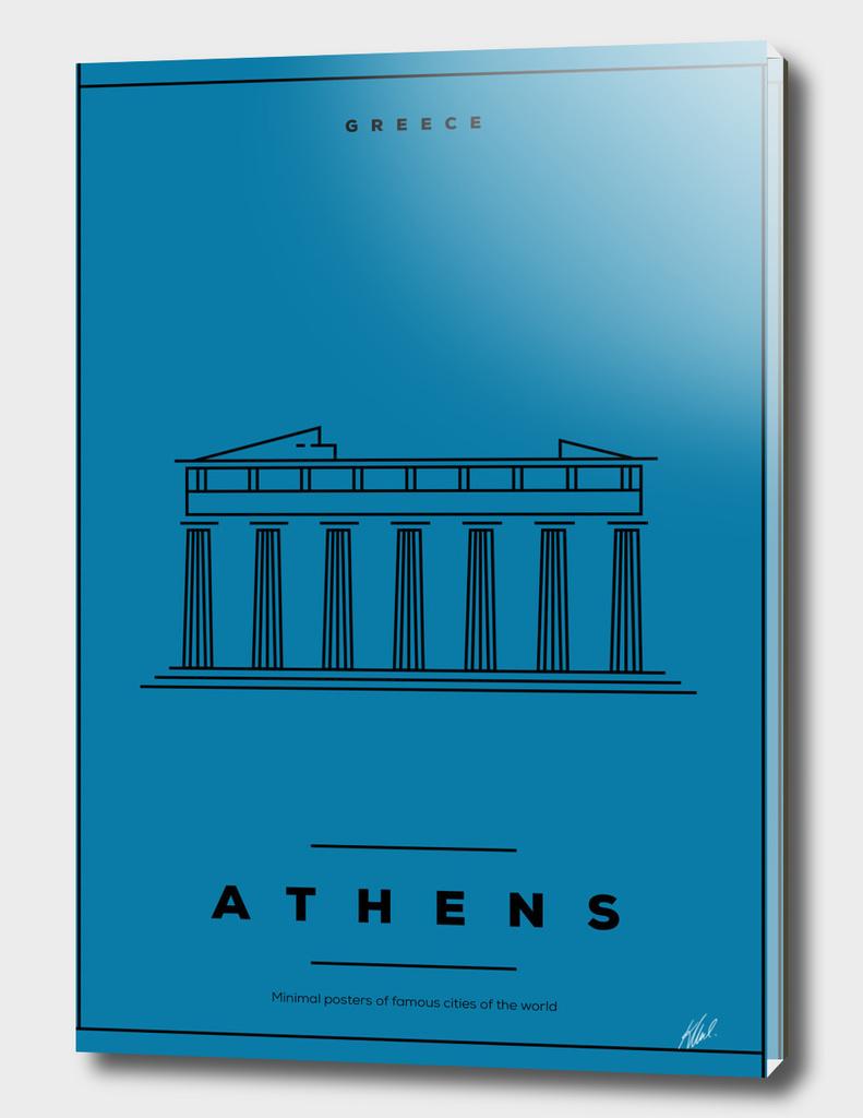 Minimal Athens City Poster