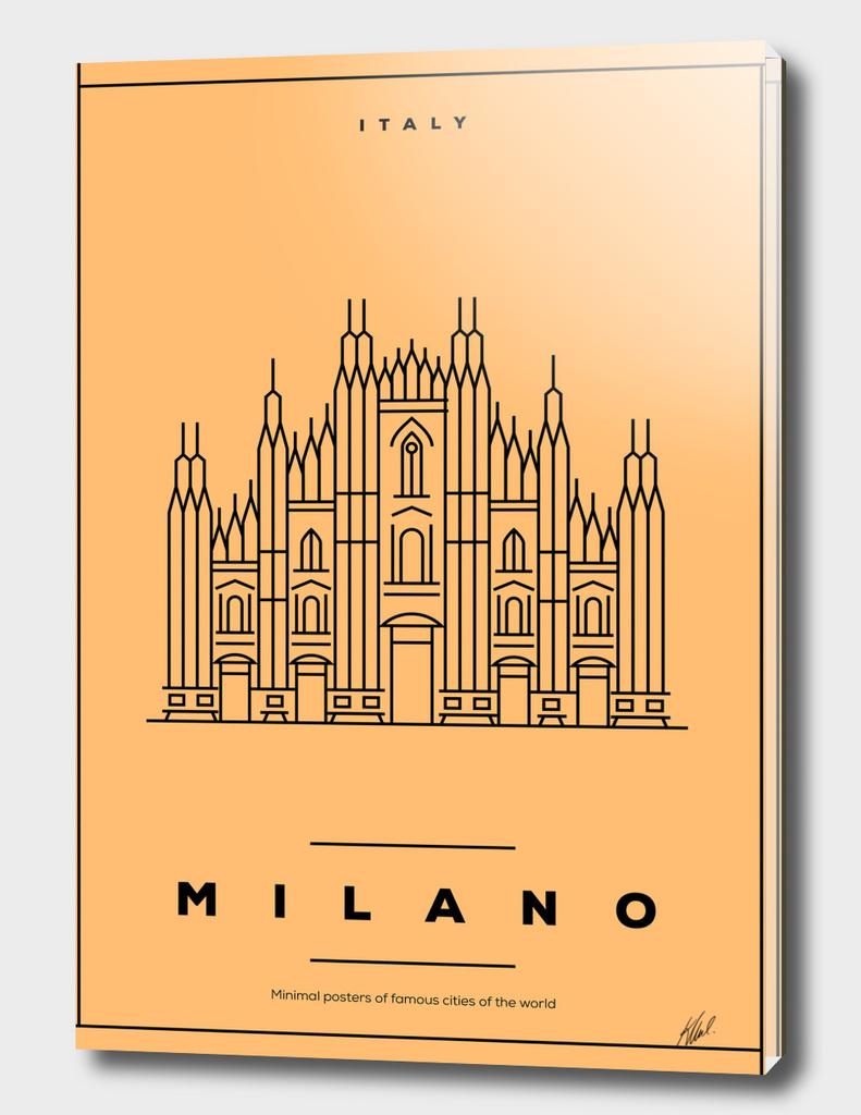 Minimal Milano City Poster