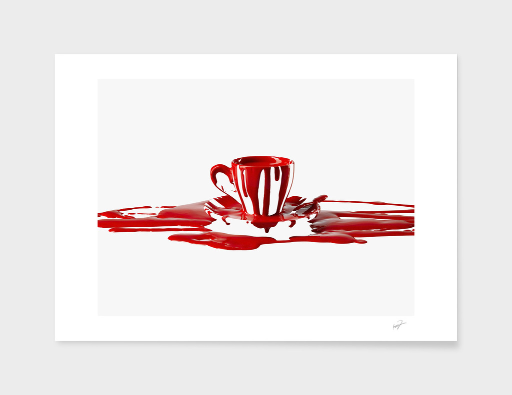 cup on ink