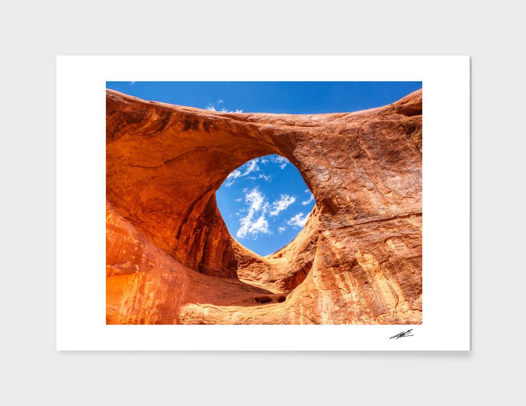 Sun's eye, Monument valley