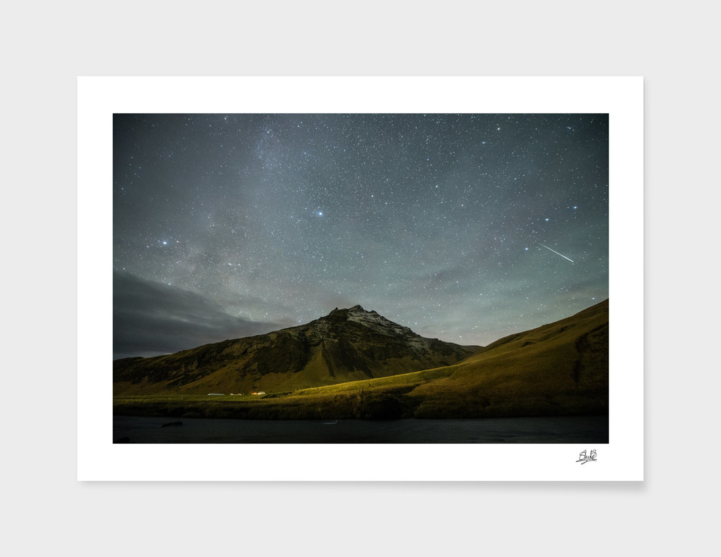 Northern Lights, Skogafoss, Iceland, 2015.