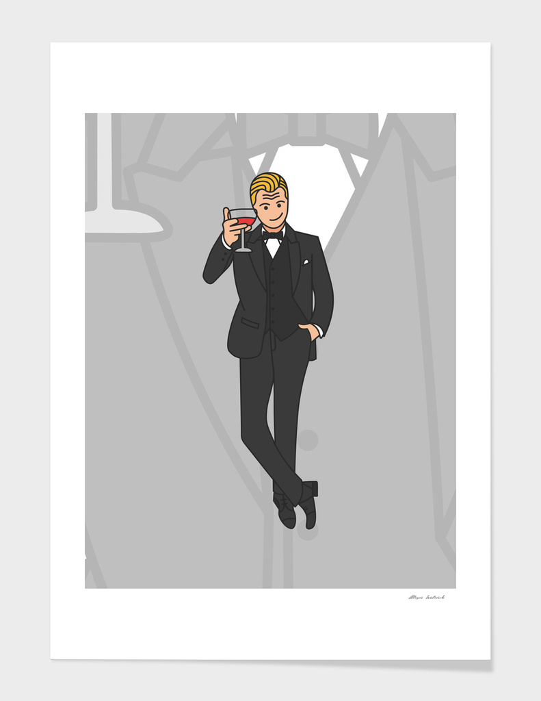 Leonardo DiCaprio with Wine glass