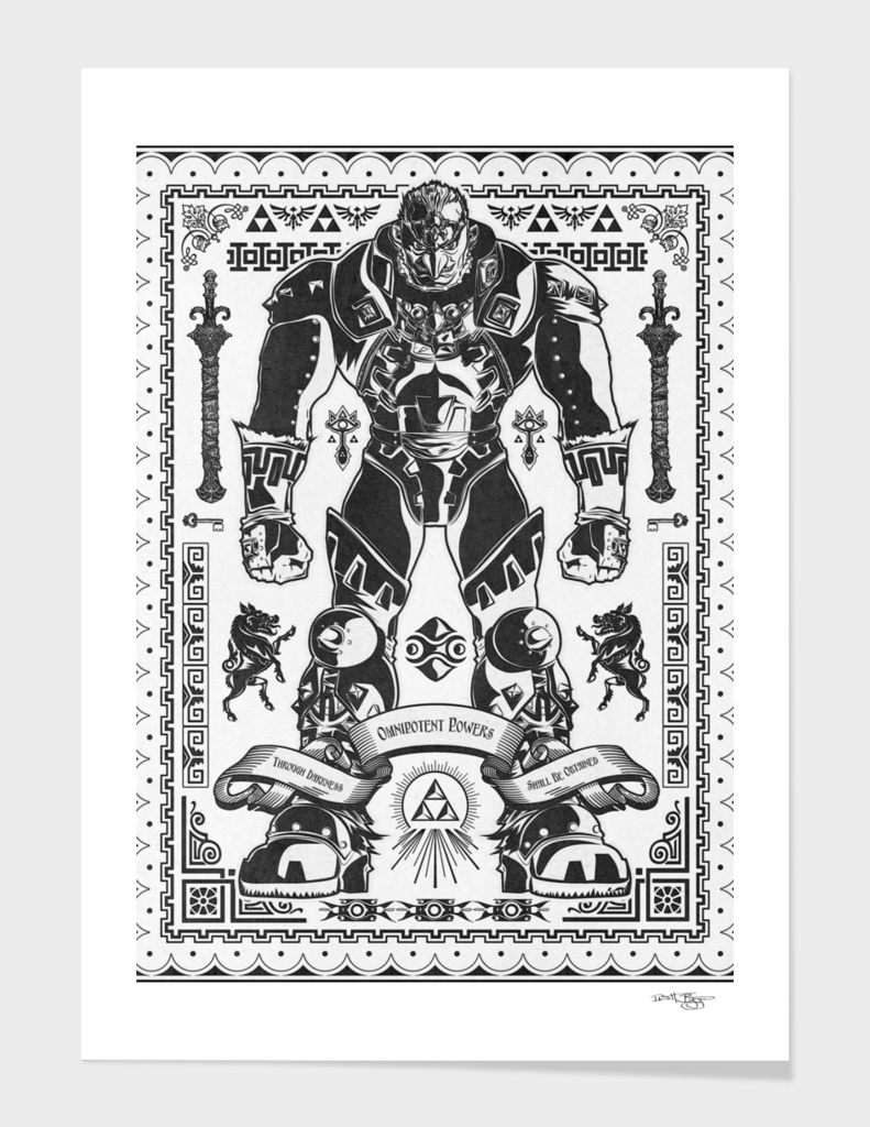 The Triforce of Power Ganondorf