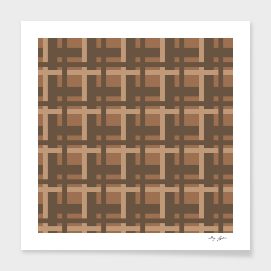 Plaid -- Brown