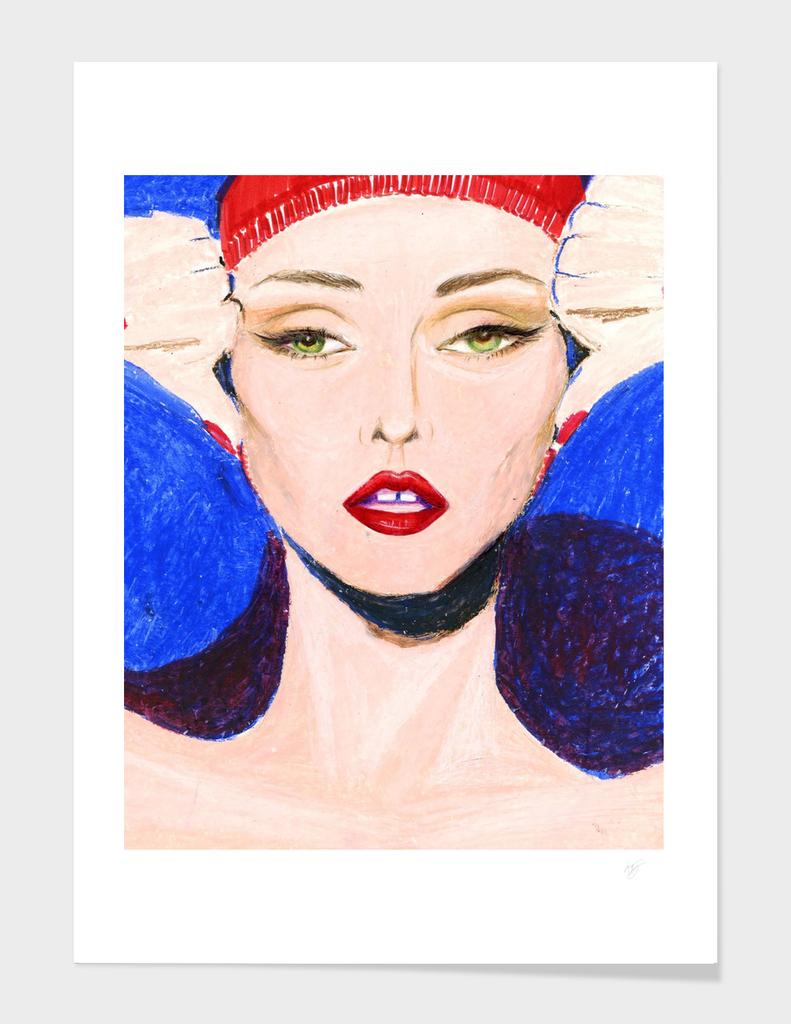 Art Deco Fashion Portrait Art-Fine Printable Art