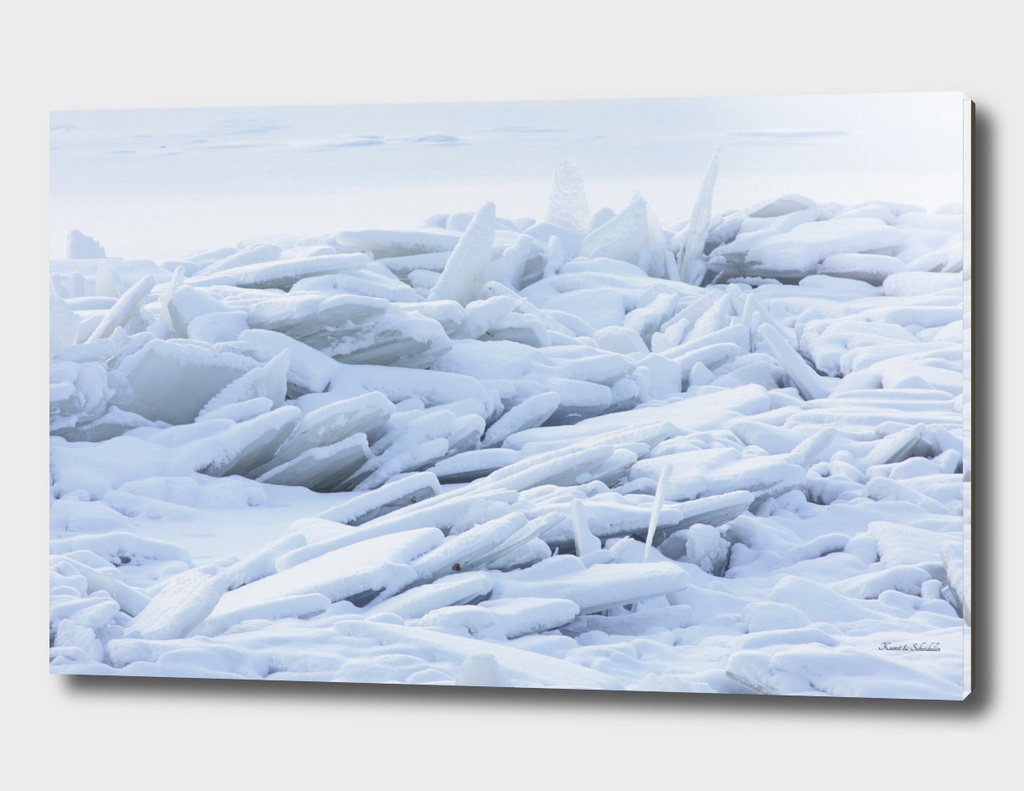Crashed ice floes