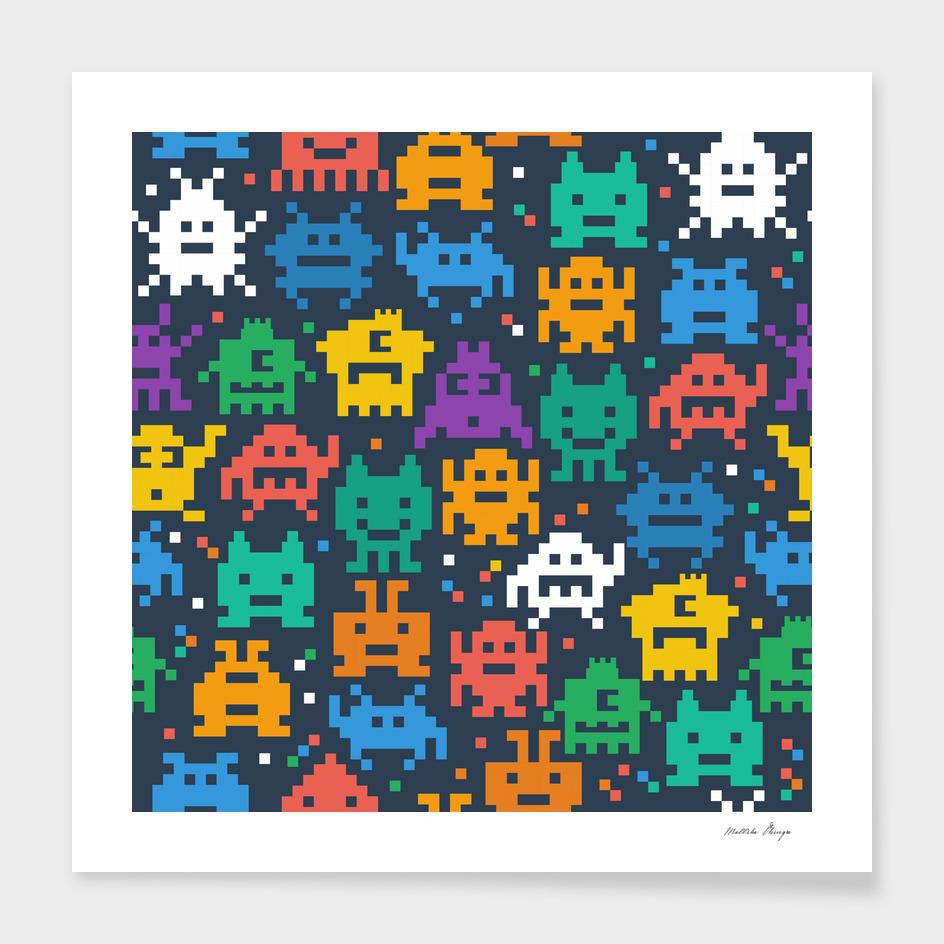 pixelated monster