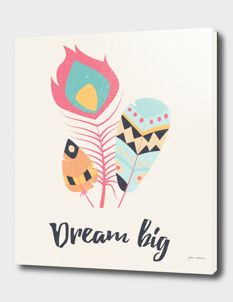 Dream big tribal feathers
