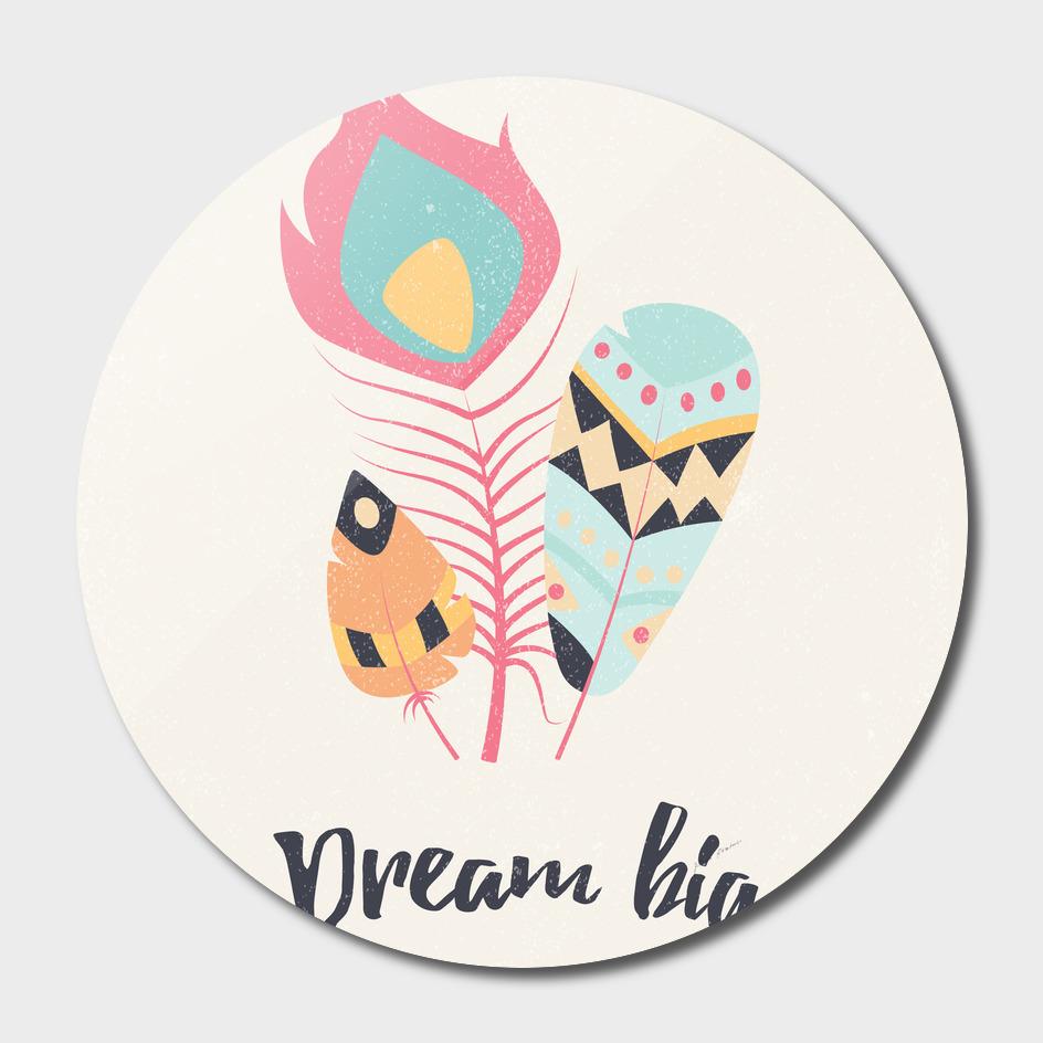 Dream big tribal feathers