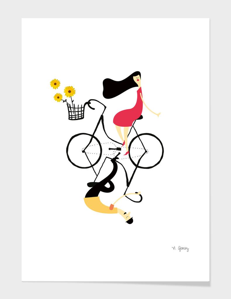 Love is in a bike
