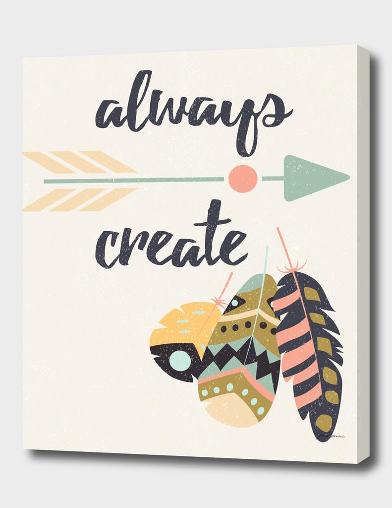 Always create tribal feathers