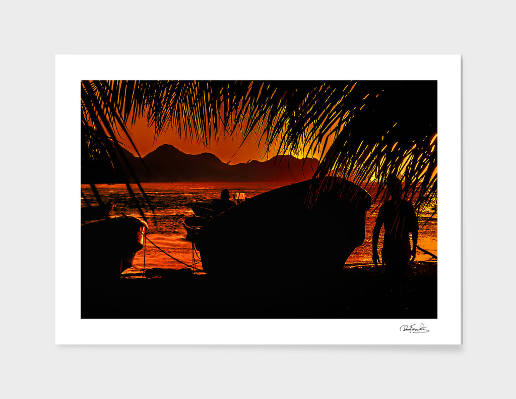 Taganga Bay Sunset, Colombia