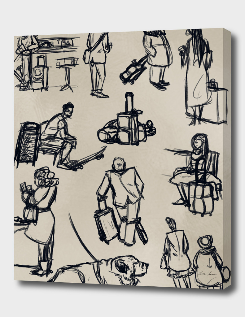 Train Station Sketches Collection: Europe