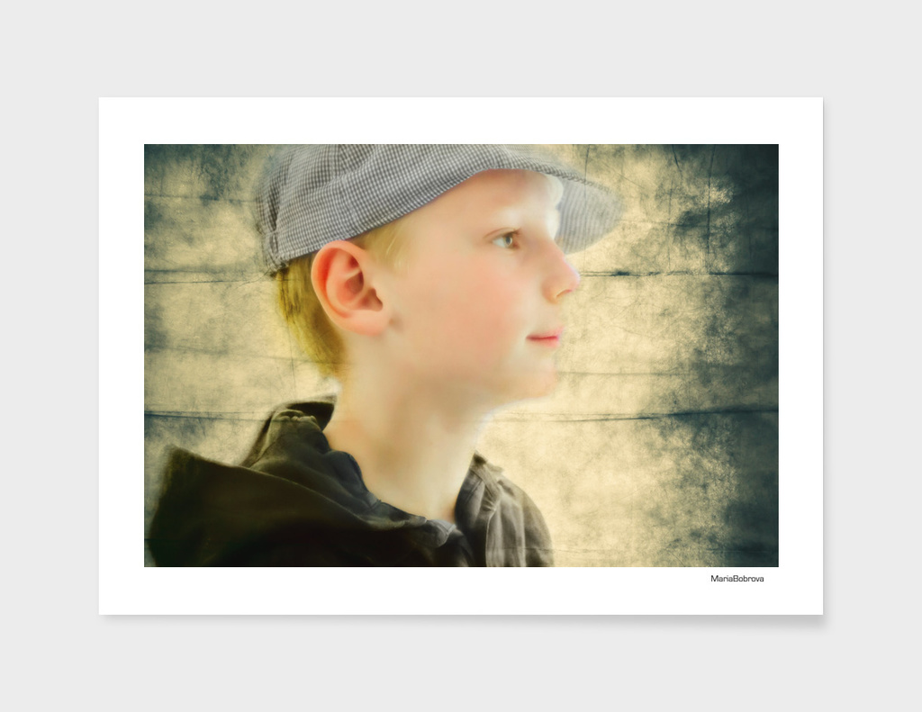 boy in retro cap
