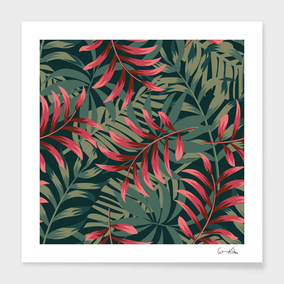 trending abstract seamless pattern with colorful tropical