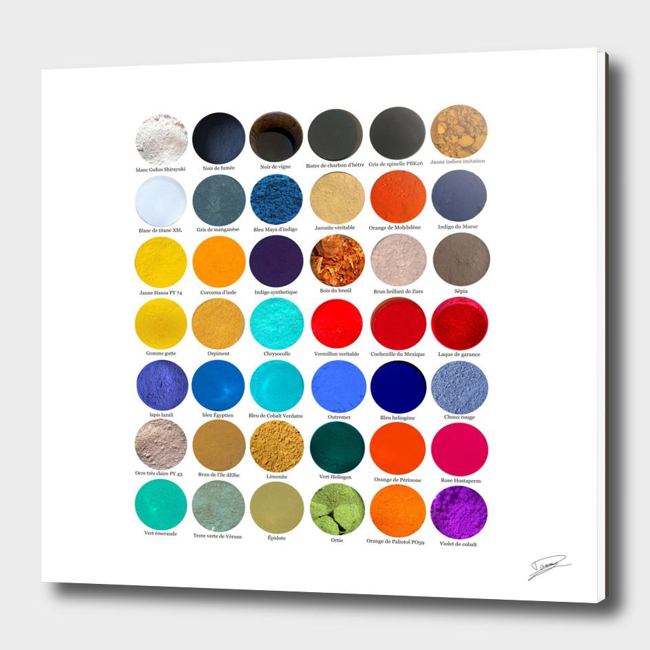 Pigments & colorants pour l'Enluminure. Pigments and dyes