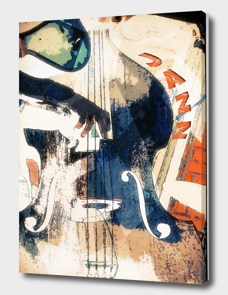 Double bass Jazz Poster
