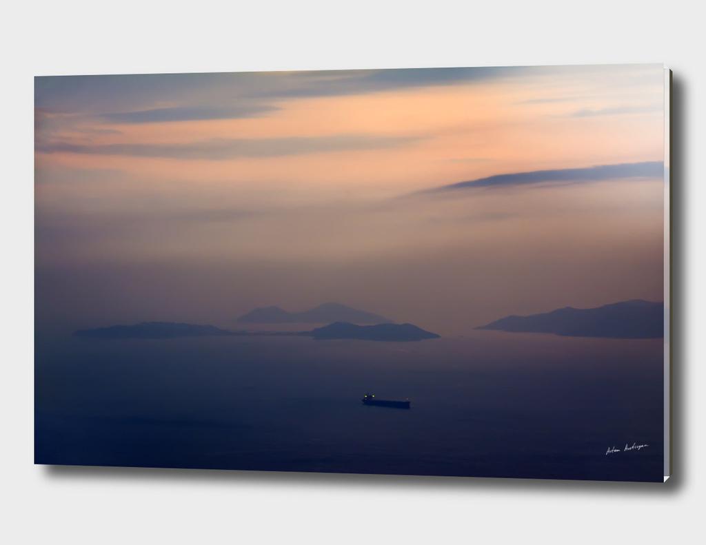 colourful sunset at sea