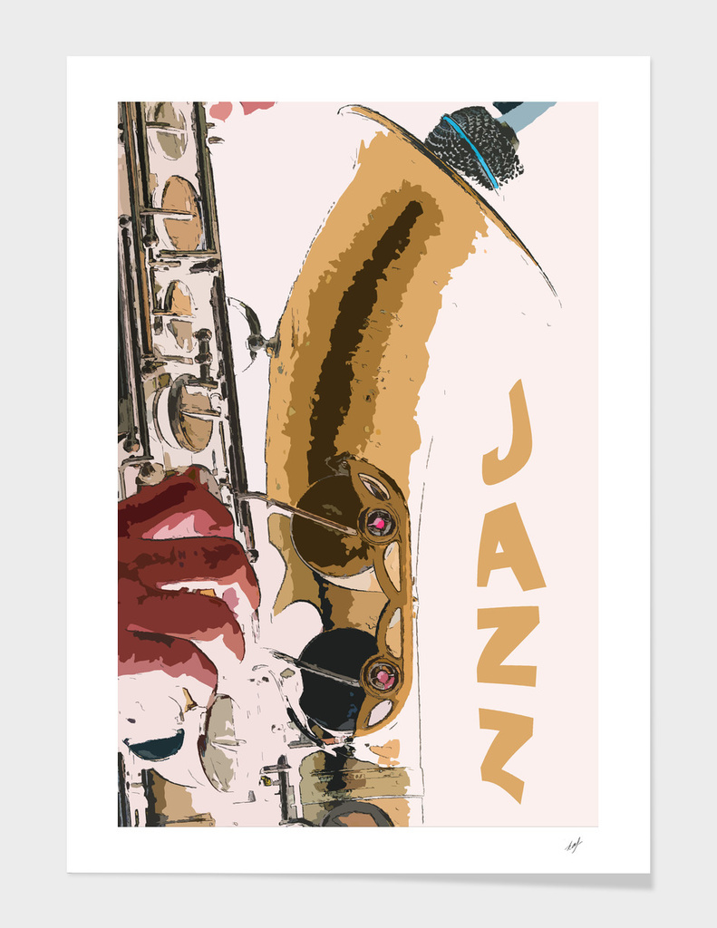 Jazz Saxophone Illustration