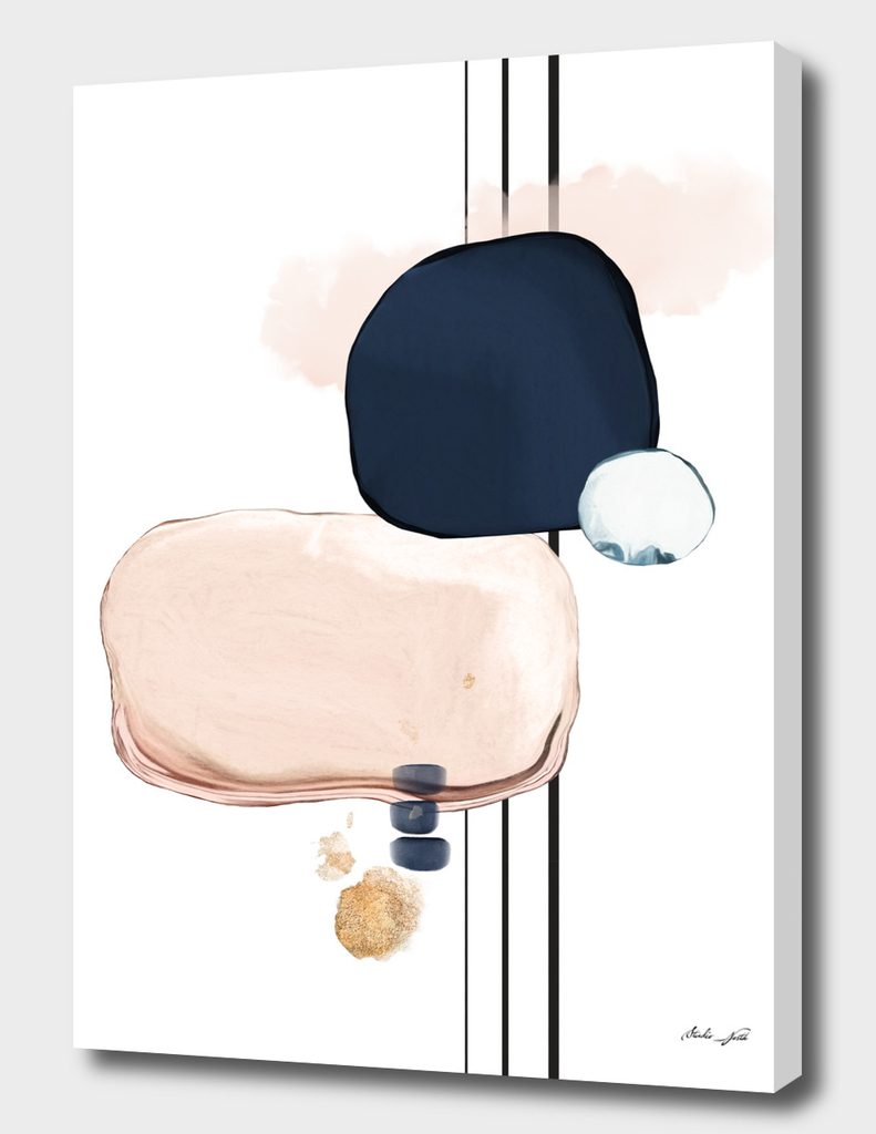 Abstract Study Blush and Navy Blue