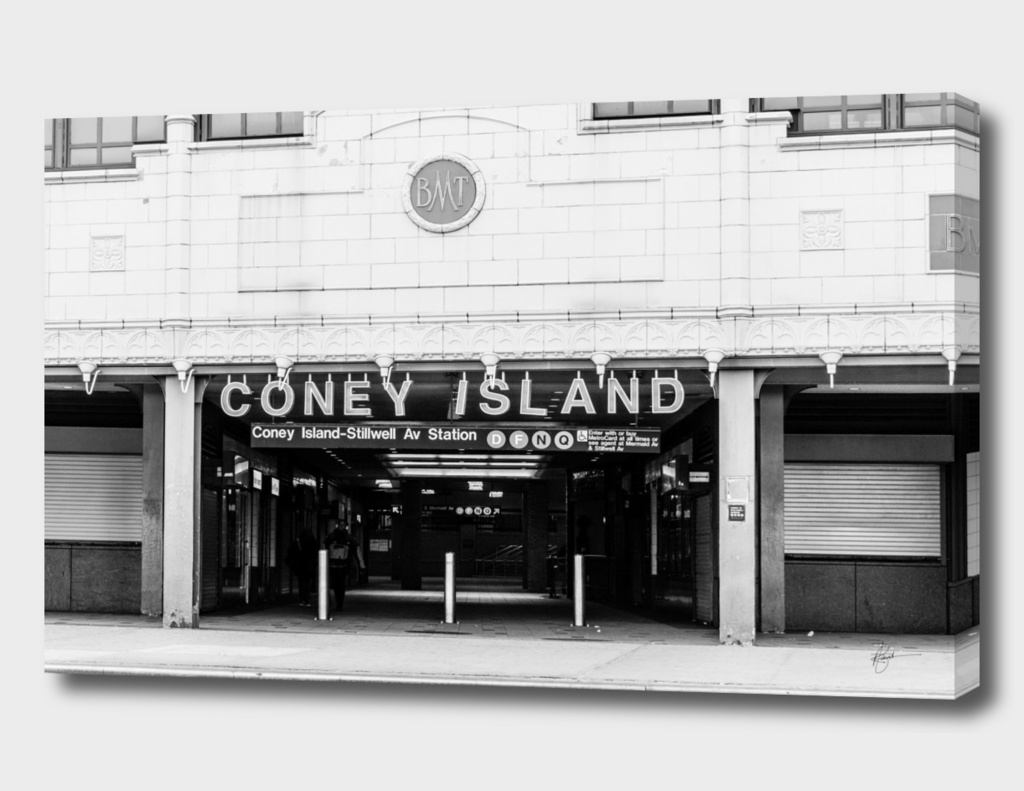 Coney Island Subway Entrance