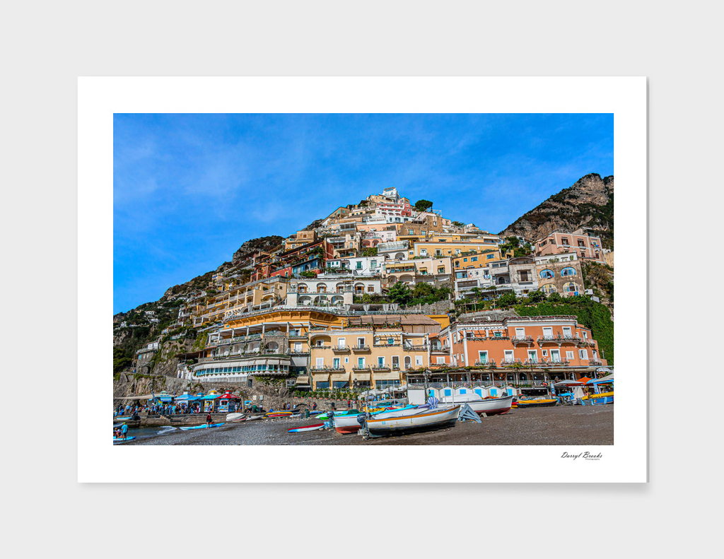 Positano from the Beach