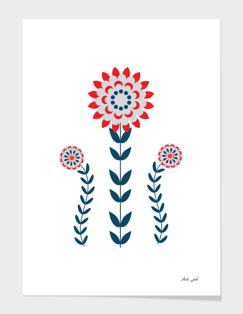 Scandi Folk Flowers