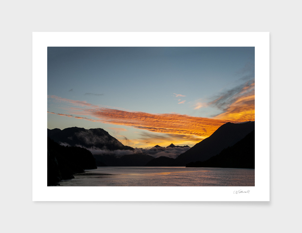 Doubtful Sound Dawn, New Zealand