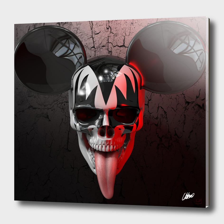 Skull Kiss Mickey
