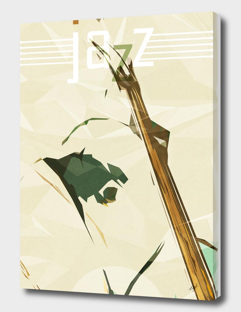 Contrabassist. Jazz Club Poster