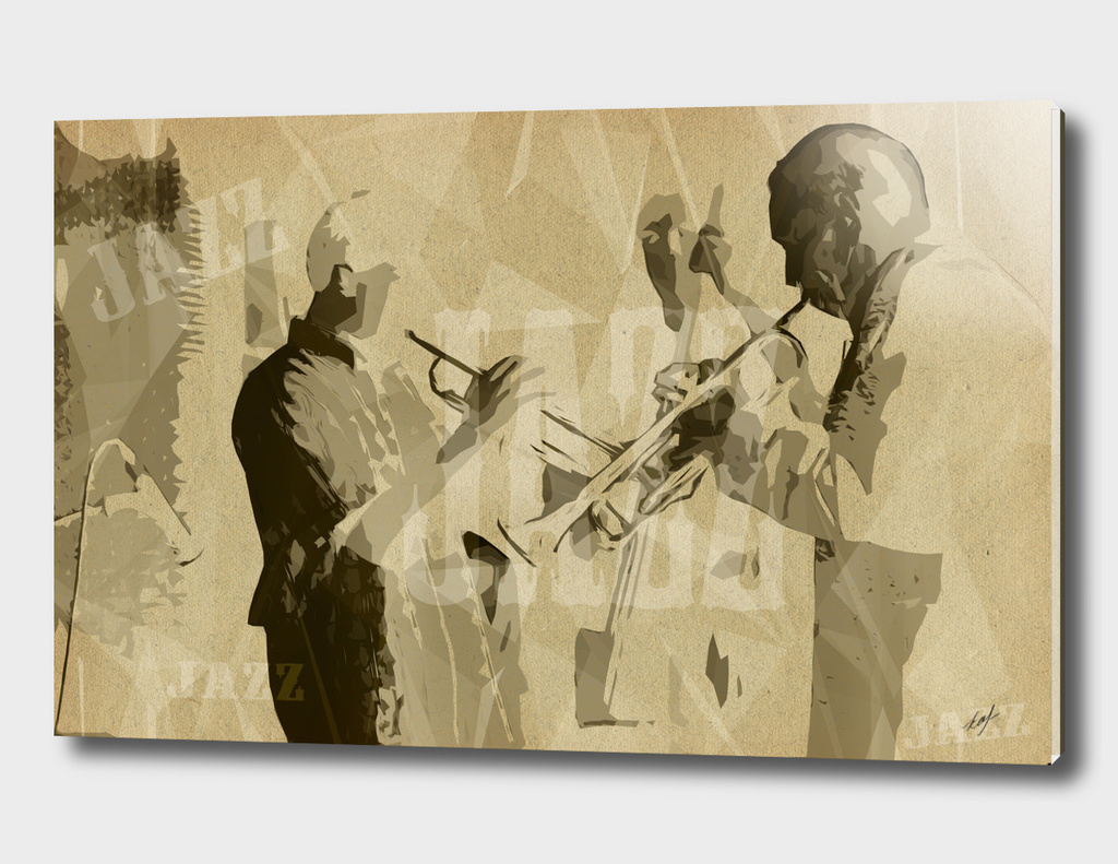 Two Trumpeter. Jazz Club Poster