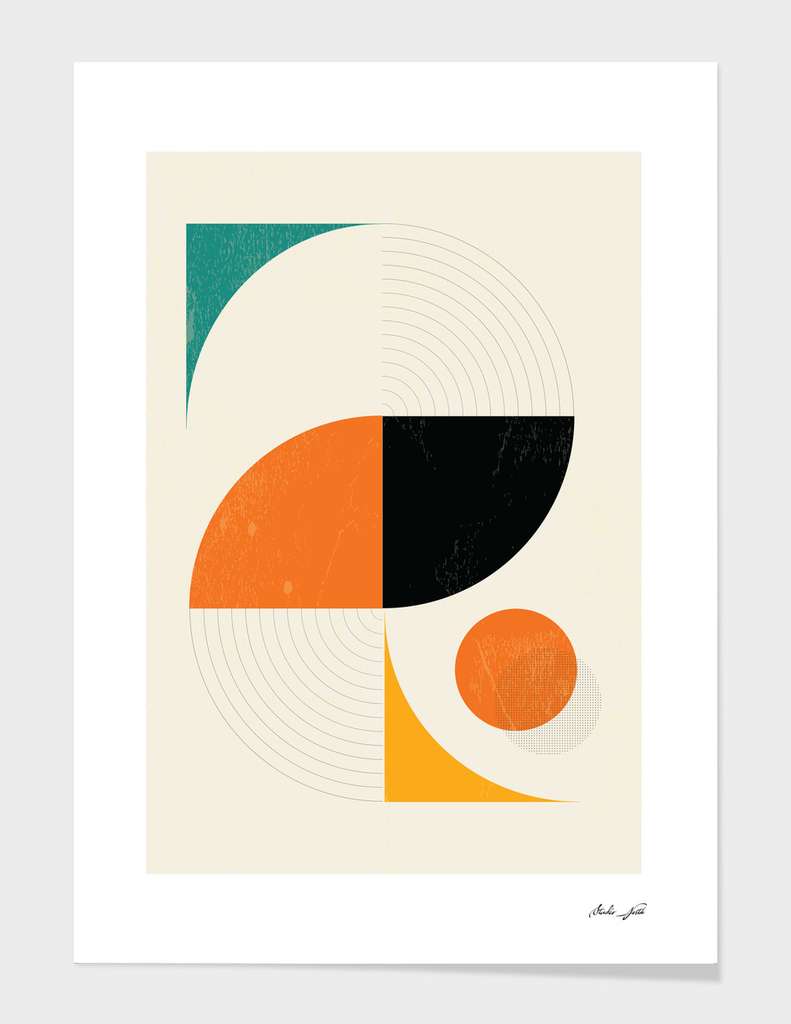Mid Century Modern Abstract Pop, Retro Style