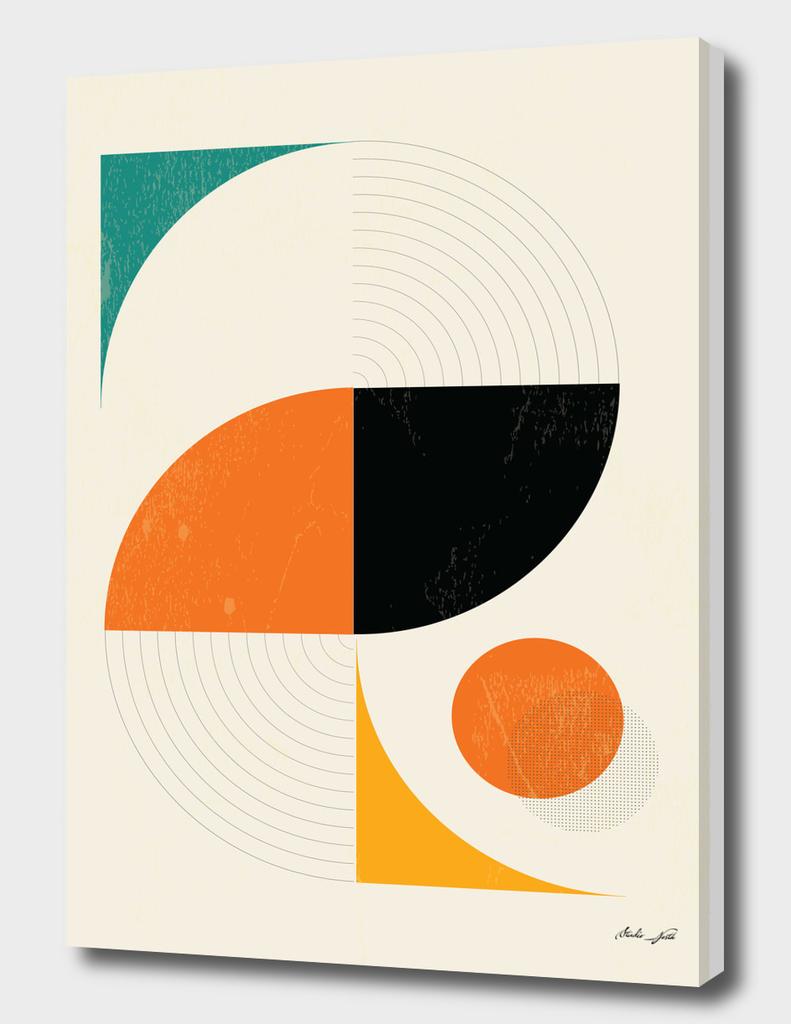 Mid Century Modern Abstract Pop, Retro Style